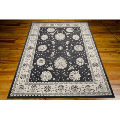 Lamarche Woven Charcoal Area Rug Rug Size: 7'10