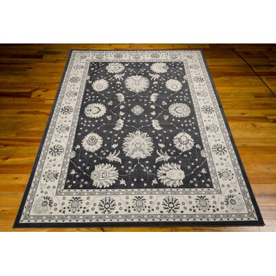 Lamarche Woven Charcoal Area Rug Rug Size: Rectangle 53 x 74