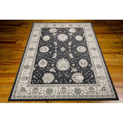 Lamarche Woven Charcoal Area Rug Rug Size: Rectangle 39 x 59