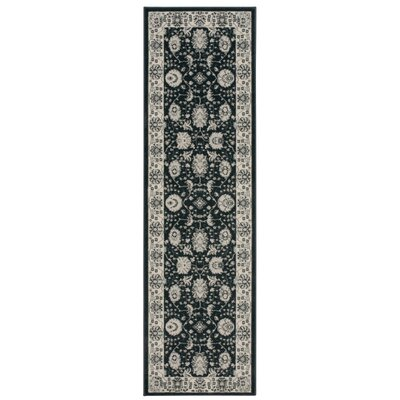 Lamarche Woven Charcoal Area Rug Rug Size: Runner 2'2
