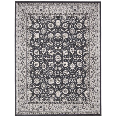 Lamarche Charcoal Area Rug Rug Size: Rectangle 39 x 59