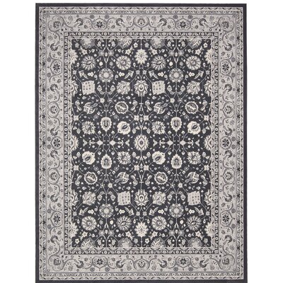 Lamarche Charcoal Area Rug Rug Size: 5'3