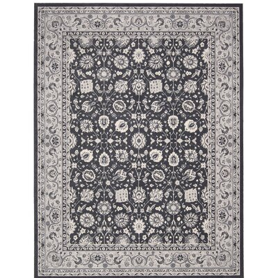 Lamarche Charcoal Area Rug Rug Size: 7'10