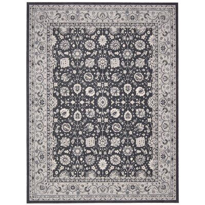 Lamarche Charcoal Area Rug Rug Size: 93 x 129