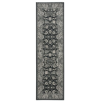 Lamarche Charcoal Area Rug Rug Size: Runner 22 x 76
