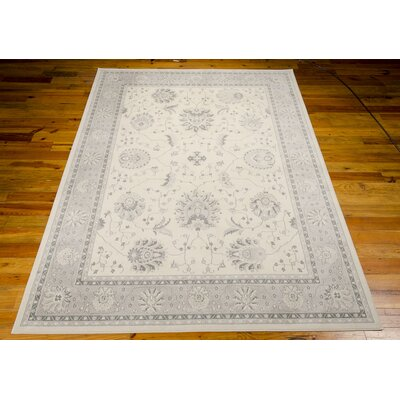 Lamarche Woven Ivory Area Rug Rug Size: 39 x 59