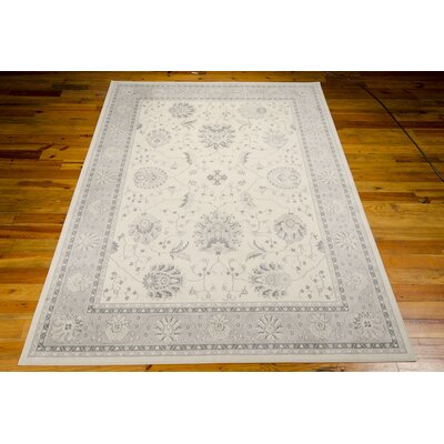 Lamarche Woven Ivory Area Rug Rug Size: 53 x 74