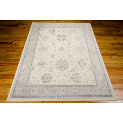 Lamarche Woven Ivory Area Rug Rug Size: 93 x 129