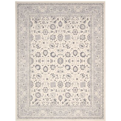 Lamarche Ivory Area Rug Rug Size: Rectangle 93 x 129