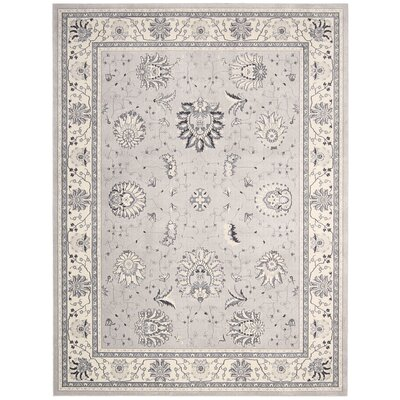 Lamarche Silver Area Rug Rug Size: 710 x 1010