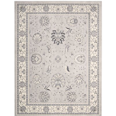Lamarche Silver Area Rug Rug Size: 39 x 59