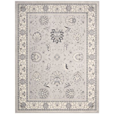 Lamarche Silver Area Rug Rug Size: Rectangle 93 x 129