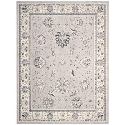 Lamarche Silver Area Rug Rug Size: 93 x 129