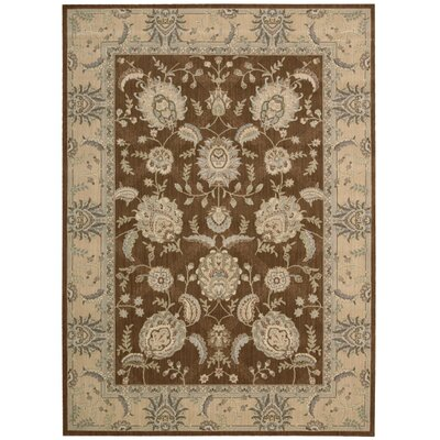 Dowdell Chocolate Area Rug Rug Size: 36 x 56