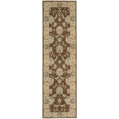 Blue Heron Chocolate Area Rug Rug Size: Runner 2'3