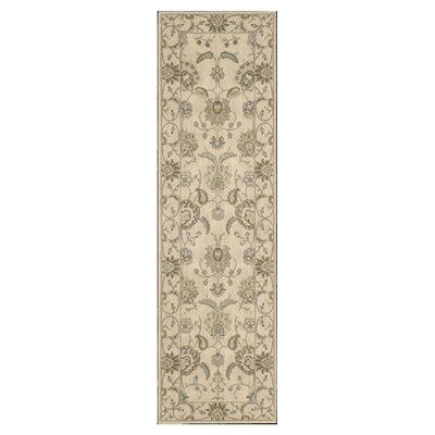 Dowdell Ivory Area Rug Rug Size: Runner 23 x 8