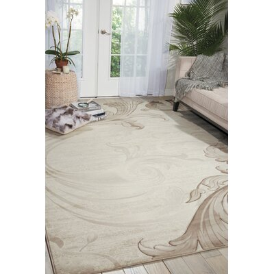 Shelley Beige Area Rug Rug Size: 53 x 74