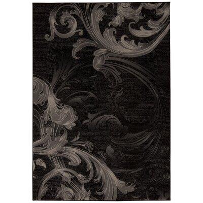 Shelley Black/Gray Area Rug Rug Size: 93 x 129