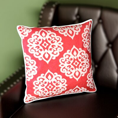 Stroudsburg Zipper Shell Throw Pillow Color: Scarlet