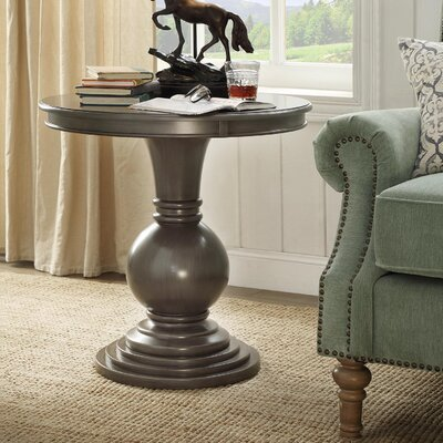 Loganville End Table Finish: Brushed Gray
