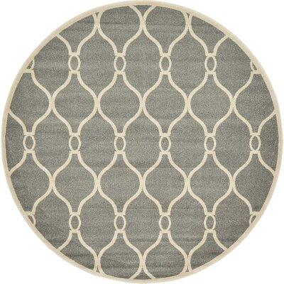 Molly Gray Area Rug Rug Size: Round 8
