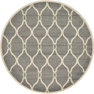 Molly Gray Area Rug Rug Size: Round 6