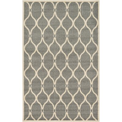 Molly Gray Area Rug Rug Size: 5 x 8