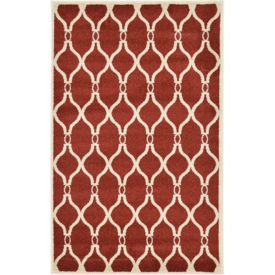 Duluth Red Area Rug Rug Size: 33 x 53