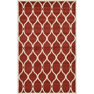 Duluth Red Area Rug Rug Size: 5 x 8