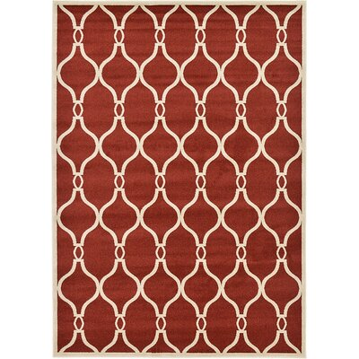 Duluth Red Area Rug Rug Size: 7 x 10