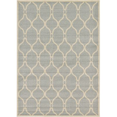 Duluth Light Gray Area Rug Rug Size: 7 x 10