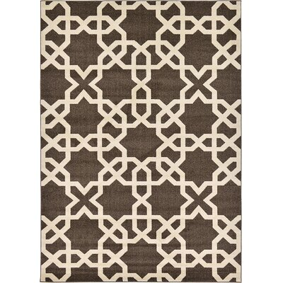 Kristina Brown Area Rug Rug Size: Rectangle 7 x 10
