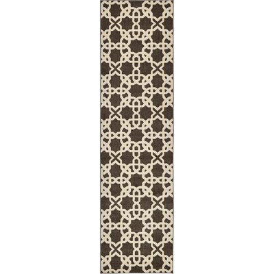 Kristina Brown Area Rug Rug Size: Runner 27 x 10