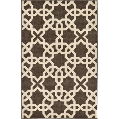 Kristina Brown Area Rug Rug Size: Rectangle 5 x 8