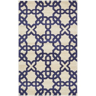 Molly Trellis Beige Area Rug Rug Size: Rectangle 33 x 53