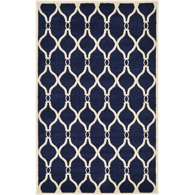 Duluth Navy Blue Area Rug Rug Size: 33 x 53