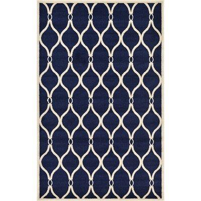 Duluth Navy Blue Area Rug Rug Size: 5 x 8