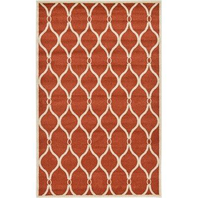 Duluth Terracotta Area Rug Rug Size: 5 x 8