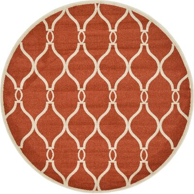 Duluth Terracotta Area Rug Rug Size: Round 6