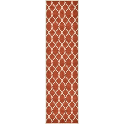 Duluth Terracotta Area Rug Rug Size: Runner 27 x 10