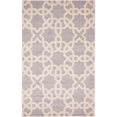 Molly Light Gray Area Rug Rug Size: 5 x 8