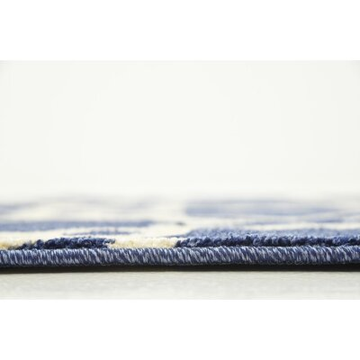 Molly Blue/Beige Area Rug Rug Size: Rectangle 3 x 5
