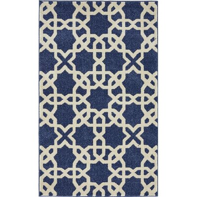 Moore Blue/Beige Area Rug Rug Size: Rectangle 5 x 8