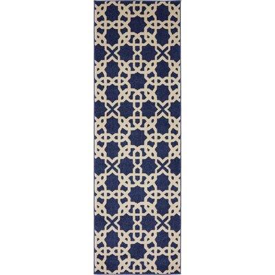 Moore Blue/Beige Area Rug Rug Size: Runner 3 x 8