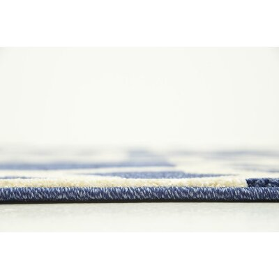 Molly Blue/Beige Area Rug Rug Size: 5 x 8