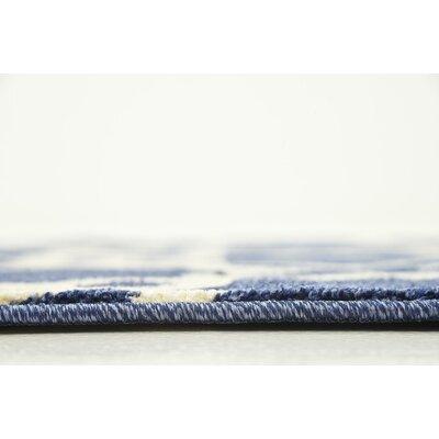 Duluth Blue/Beige Area Rug Rug Size: 3 x 5