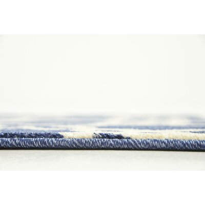 Molly Blue/Beige Area Rug Rug Size: Runner 3 x 8