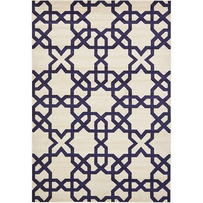 Moore Turkish Trellis Beige Area Rug Rug Size: Rectangle 7 x 10
