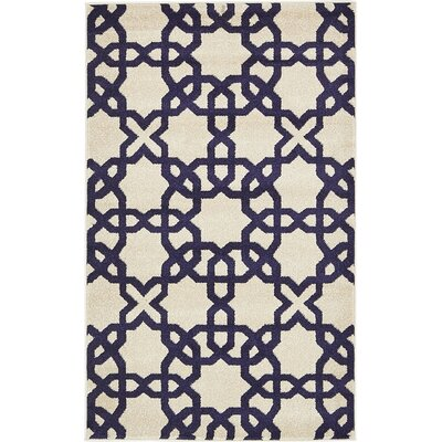 Molly Turkish Trellis Beige Area Rug Rug Size: 33 x 53