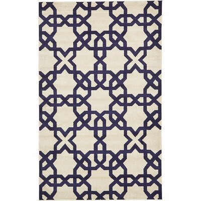 Moore Turkish Trellis Beige Area Rug Rug Size: Rectangle 5 x 8